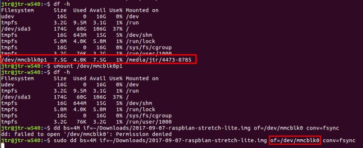 Copy Raspbian Lite to SD Card